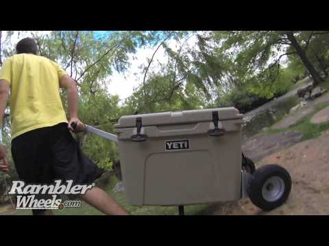 YETI Cooler Wheel System - The All Terrain Rambler X1 from YouTube · High Definition · Duration:  1 minutes 40 seconds  · 22000+ views · uploaded on 04/05/2014 · uploaded by Rambler Wheels for YETI Coolers