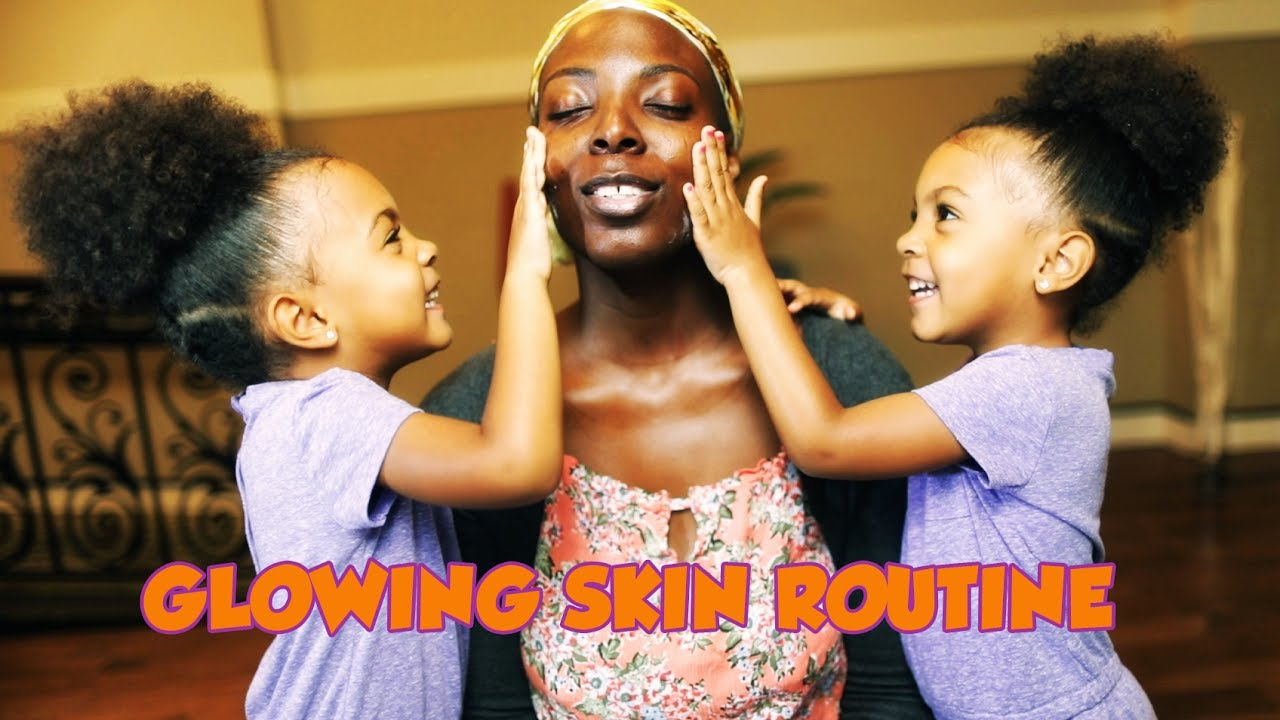 glowing skin routine youtube