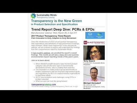 For manufacturers: Transparency is the New Green – Trend Report Deep Dive: PCRs & EPDs
