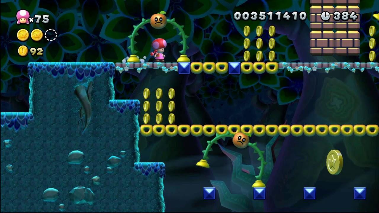【NS】蘇打叢林 5-3 三星幣 【Mario U】 New 超級瑪利歐兄弟 U 豪華版 - YouTube