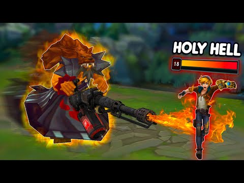 Udyr...but he has a flamethrower that instantly burns you for 1500 AP dmg 😈😈