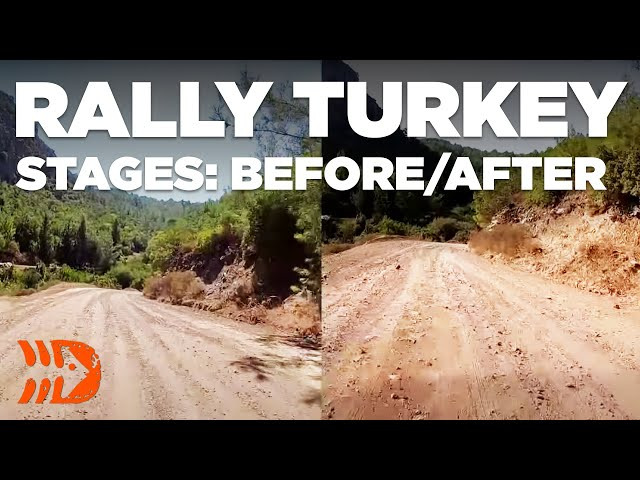 Rally Turkey Stages: Before and After