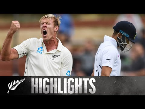 Jamieson Strikes Early On Debut | FULL HIGHLIGHTS | BLACKCAPS v India | 1st Test - Day 1, 2020