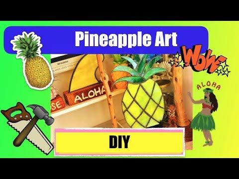 DIY :Beach Style Stained Glass Hawaiian Pineapple made by Madoka (2018) Hebara Katsuura Chiba Japan