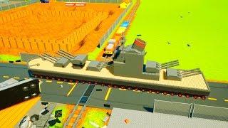 Huge Ship Vs Train!!! Brick Rigs