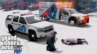 GTA 5 LSPDFR EMS #30  Play As A Paramedic Mod  Los Santos Ambulance & Supervisor Responding To Calls
