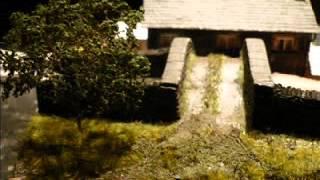 OO ölçekli çiftlik bahçesinde sahne