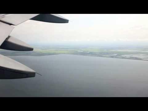 Flight Krasnodar - Moscow. Take-off & Landing. Cabin View.