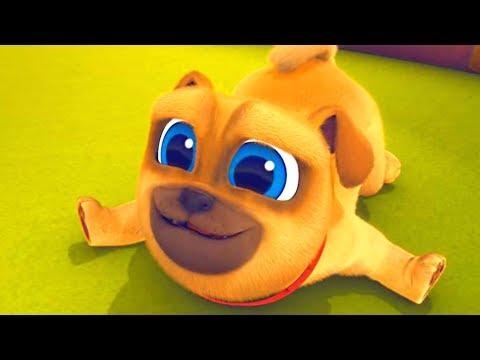 Играем вместе с дружными мопсами 01 - Конкурс танцев | мультик Disney про щенков