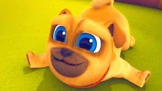 Играем вместе с дружными мопсами 01 Конкурс танцев мультик Disney про щенков