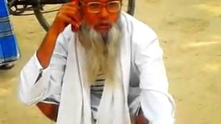 A old man giving bad words in hindi
