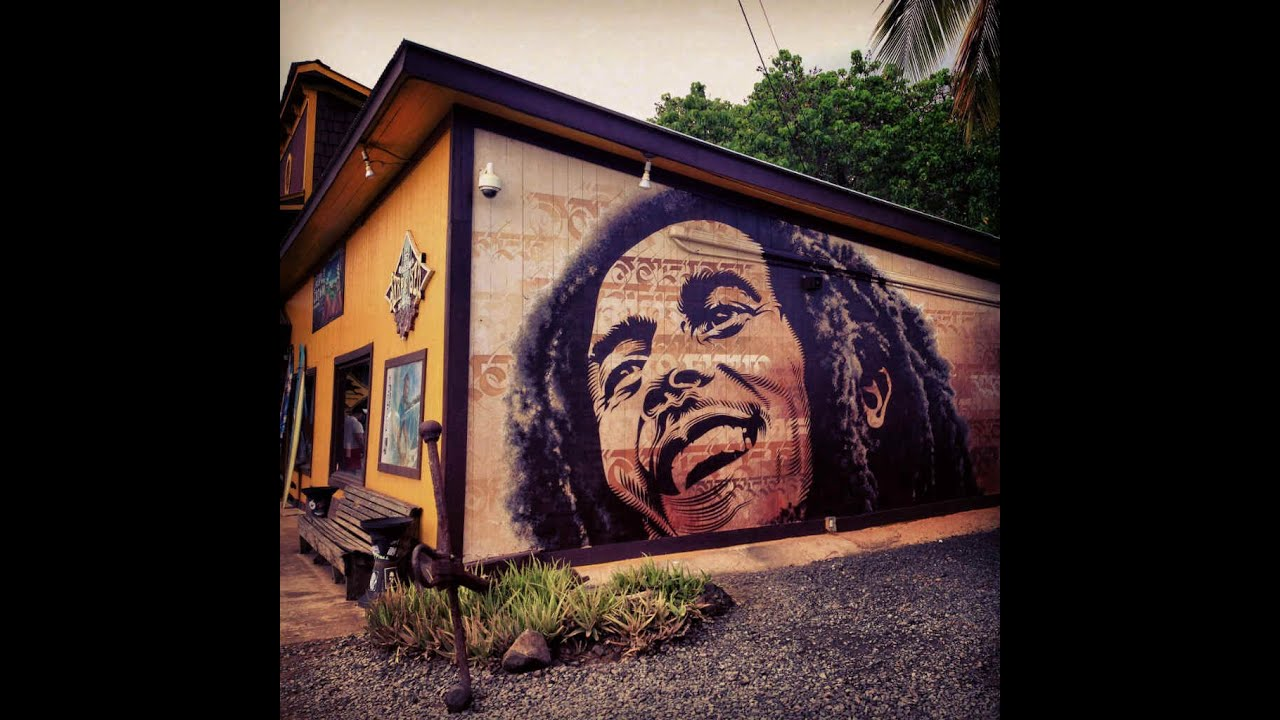 Hawaii 2014 bob marley tribute mural oahu hawaii youtube for Bob marley mural