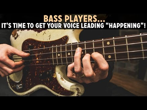Playing Chords on Bass: Getting Your Voice Leading Together! /// Scott's Bass Lessons