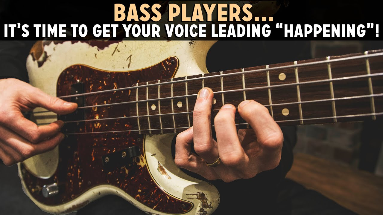 Playing Chords On Bass Getting Your Voice Leading Together