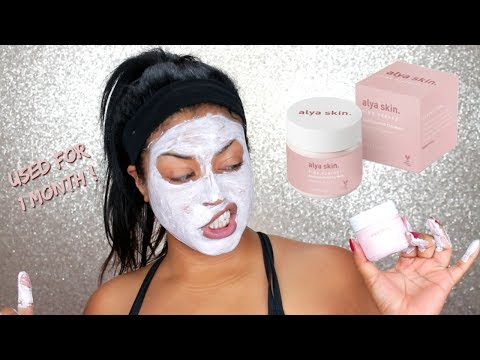 Alya Skin Pink Clay Mask | 30 day Review and Demo