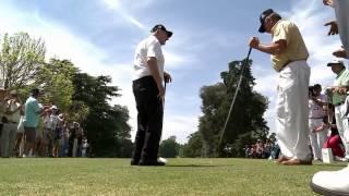 De Vicenzo haciendo el Drive Inaugural - Bridgestone America´s Golf Cup