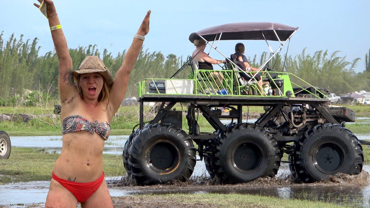 Mud Truck Battle Bogs Okeechobee Mudding Plant Bamboo