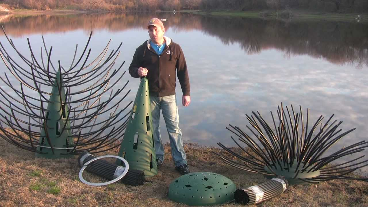 Pond structure improvement using artificial fish for Making a fish pond