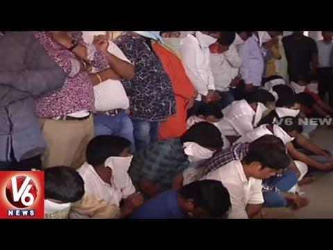 Police Raids Illegal Casino In Hyderabad, Arrests 20 Member Gambling Gang | V6 News