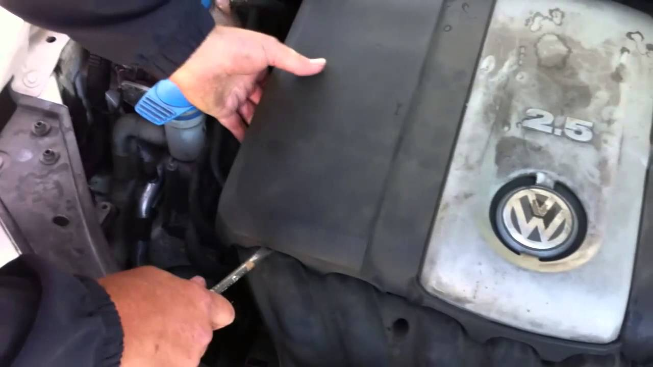 How to take off engine cover of 2007 VW Rabbit & put back on by Ace  Mechanic - YouTube | 2007 Vw Rabbit Engine Diagram |  | YouTube