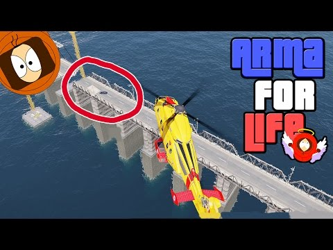 POMPIER LIFE : DRAGON + PLONGEUR - ACCIDENT SUR UN PONT ! | ARMA FOR LIFE