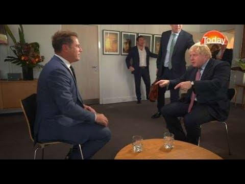 Karl Stefanovic meets Boris Johnson