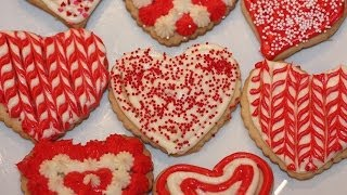 Valentines Heart Shaped Sugar Cookies Decoration