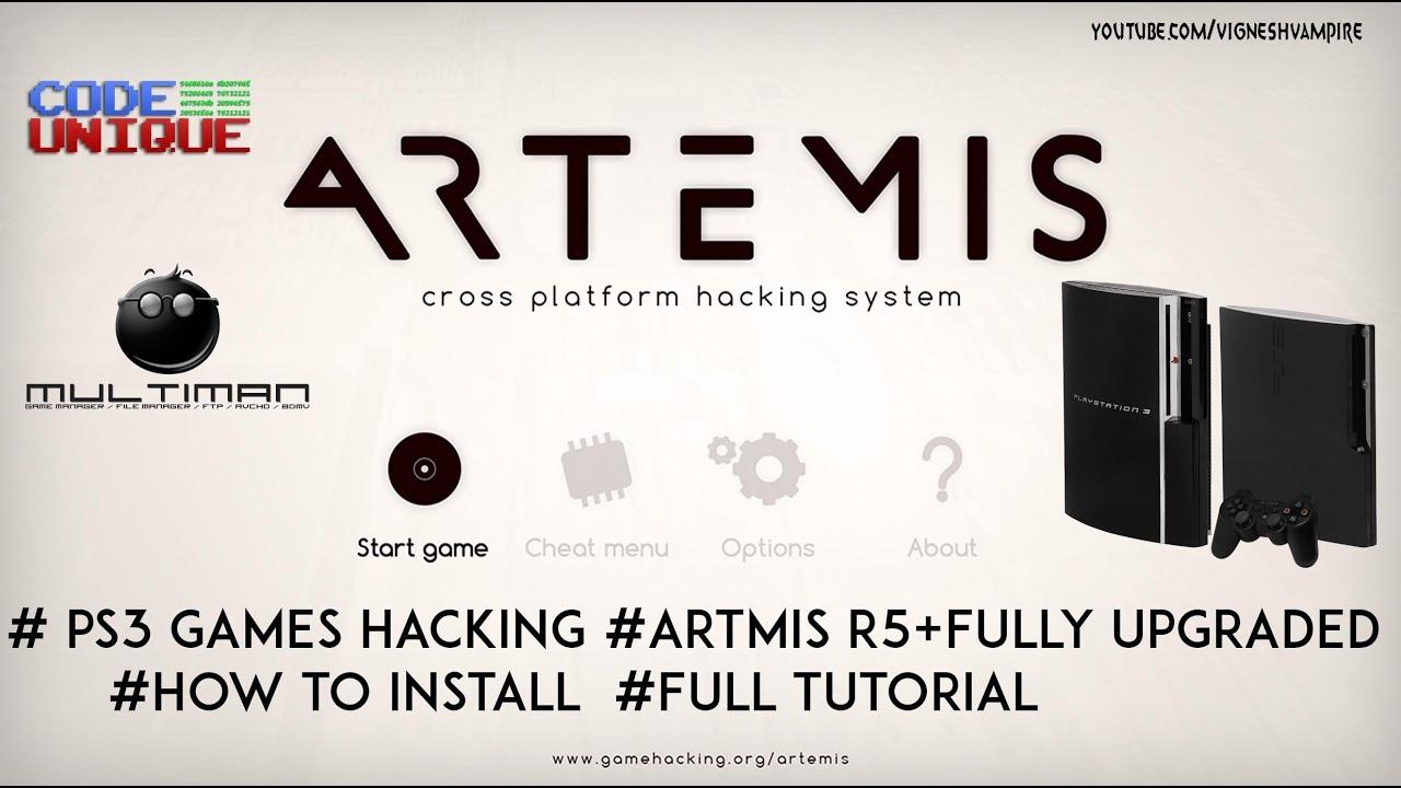 PS3 Games Hacking Artmis Full Upgrade Tutorial
