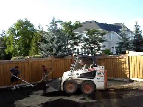 Grading A Yard For Sod Installation With Bobcat
