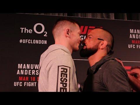 UFC London intense face offs