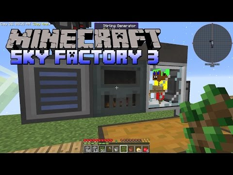 SkyFactory 3 - Automatic Ore Generator, Unlimited Ores - Minecraft SkyFactory 3 Gameplay - Part 4