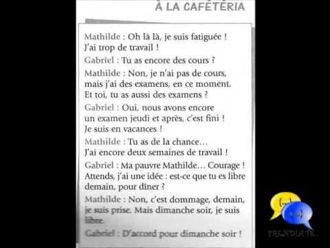 Dialogue Français Chapitre 1 : Â La Cafétéria