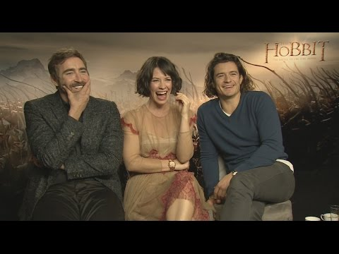 Lee Pace, Evangeline Lilly and Orlando Bloom Interview: The Hobbit: The Battle of the Five Armies