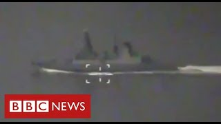 """BBC journalist reports from British warship as Russia """"fires warning shots"""" - BBC News"""