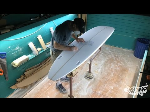 Raglan Longboards - Complete Surfboard Build: Hand Shape, Resin Tint, Gloss & Polish