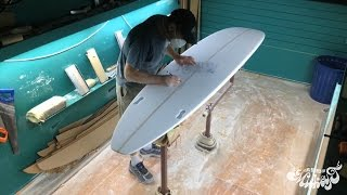 Raglan Longboards - Complete Surfboard Build: Hand Shape, Resin Tint, Gloss & Polish