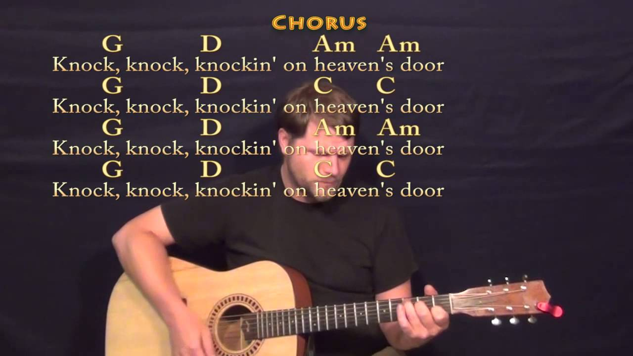 Knocking On Heavens Door Bob Dylan Strum Guitar Cover Lesson With
