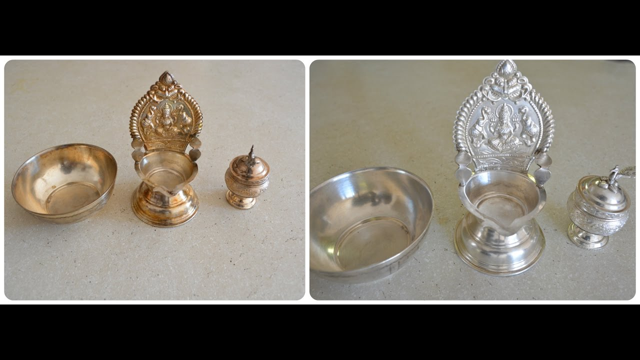 How To Clean Polish Silver Pooja Items At Home Youtube