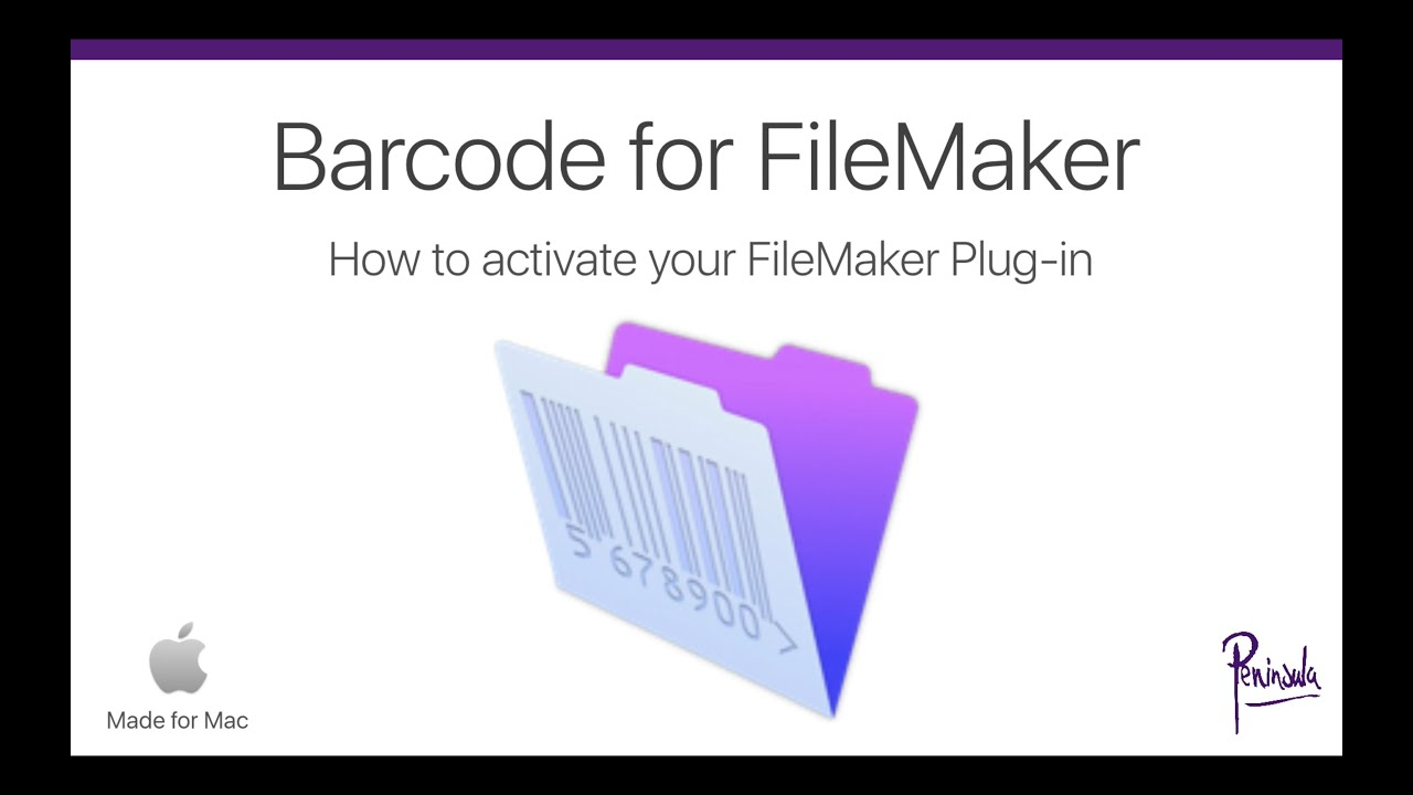 Barcodes in FileMaker Pro - Activate your Barcode for FileMaker Plug-in