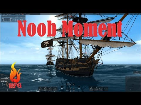 4th Rate Fleet Mission NOOB MOMENT - Naval Action 2017 Game-Play