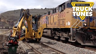 Hi-Rail Backhoe for Children | Kids Truck Video - Hi-Rail Backhoe