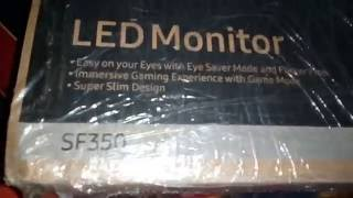 Best Unboxing Review of Samsung Slim LED Monitor 18.5 inch LS19F350HNWXXL