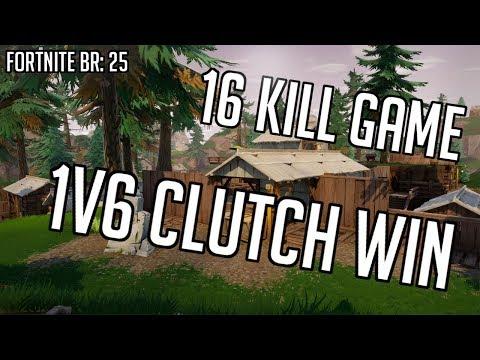 Fortnite BR 25: 16 kill Squad Game | 1v6 Clutch for the WIN | |