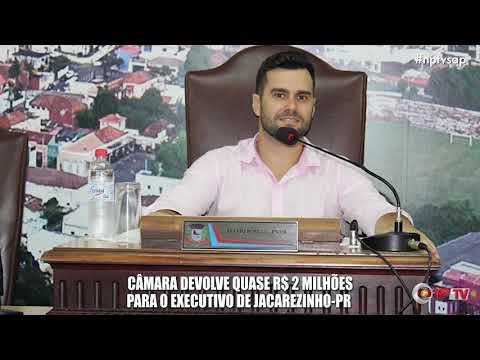 Câmara devolve quase R$ 2 milhões para o Executivo de Jacarezinho-PR