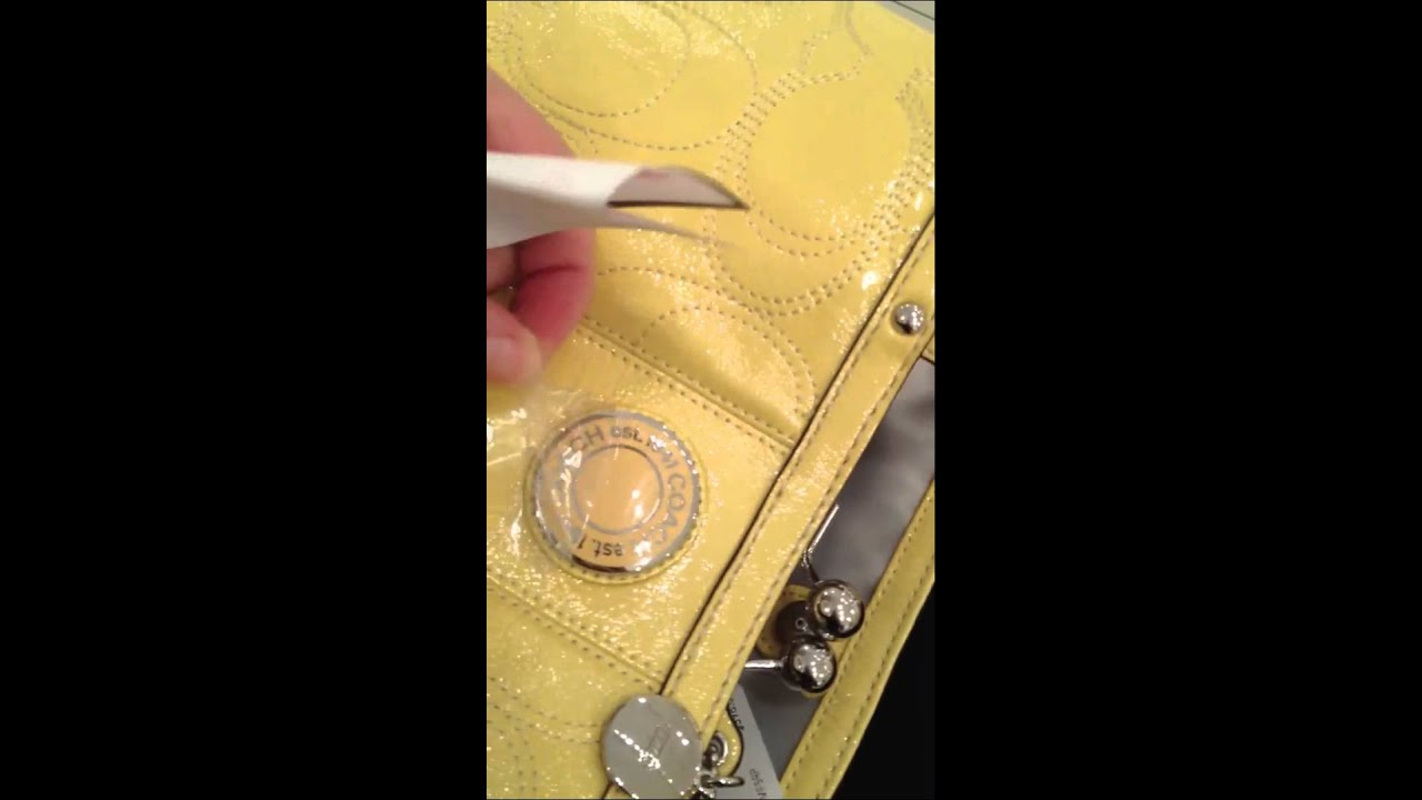 Coach Bag Yellow Patent Leather