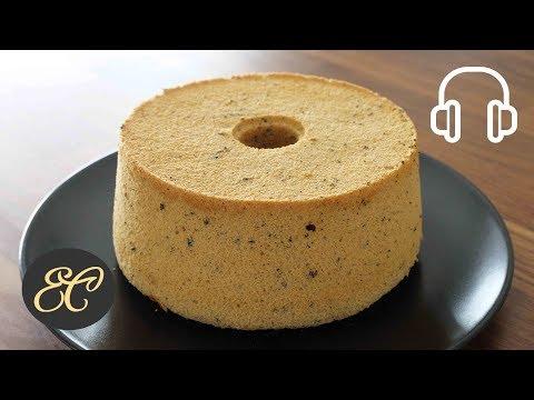 Earl Grey Chiffon Cake Recipe Gluten Free   ASMR Cooking sounds