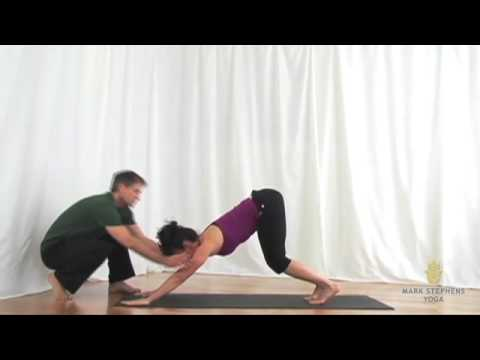 downward facing dog pose to half forward fold  youtube