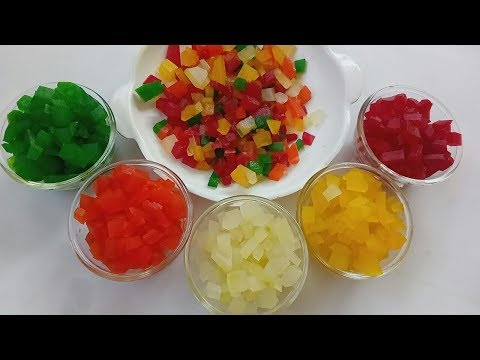 Homemade Tutti - Frutti | How to make Tutti - Frutti at home | Indian Candied Fruit Cubes