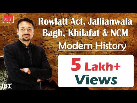Rowlatt Act, Jallianwala Bagh, Khilafat & NCM || By Dr Deepak Yadav