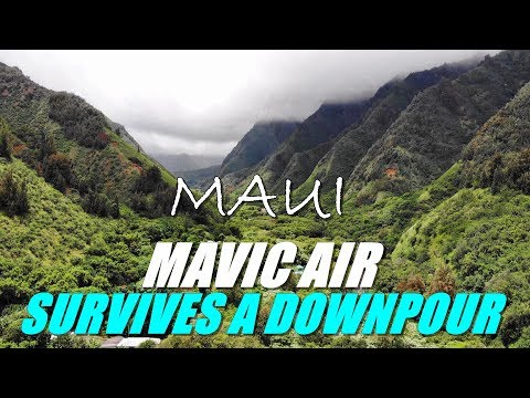 DJI MAVIC AIR Drone Surviving Tropical Rain Downpour - Maui Hawaii